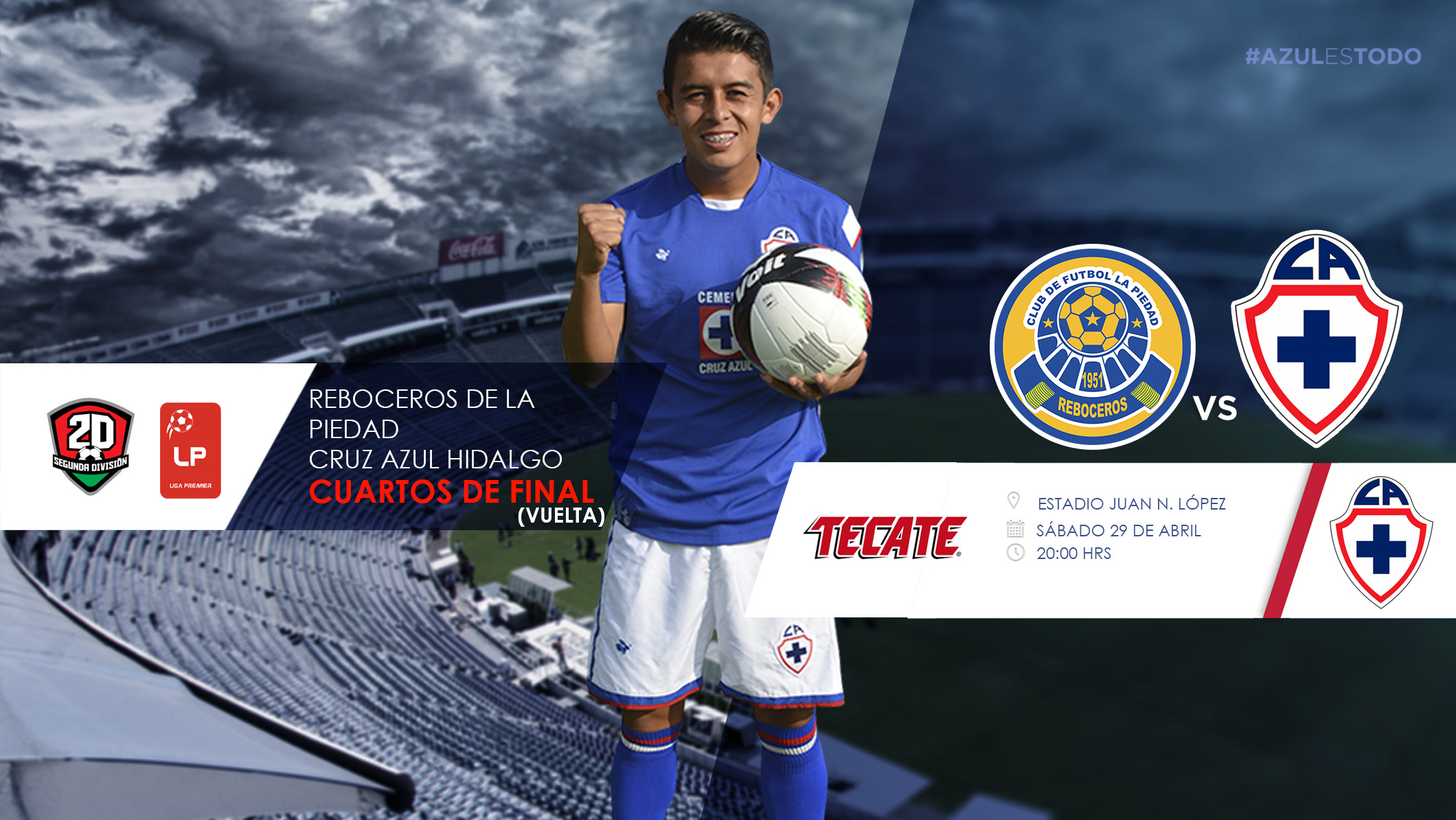La piedad vs ca hidalgo cruz azul f tbol club for Cuartos de final coac 2017
